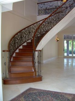 Curved Iron Scroll Staircase 16